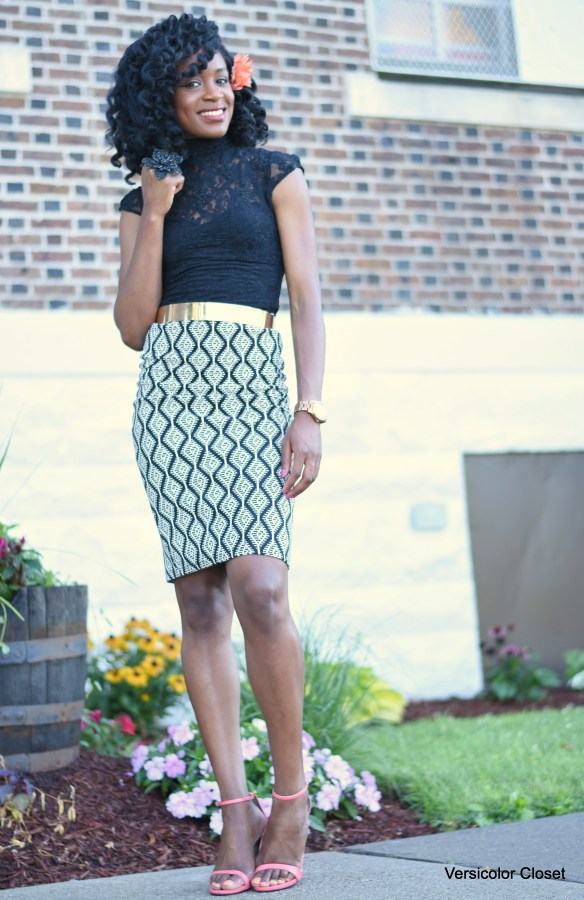 Pencil skirt + lace top (6)