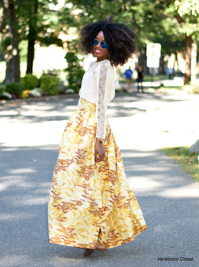 Ankara - African print maxi skirt (8)