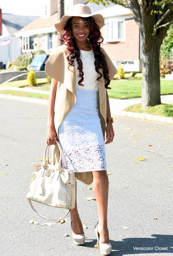 Lace skirt & lace top (3)