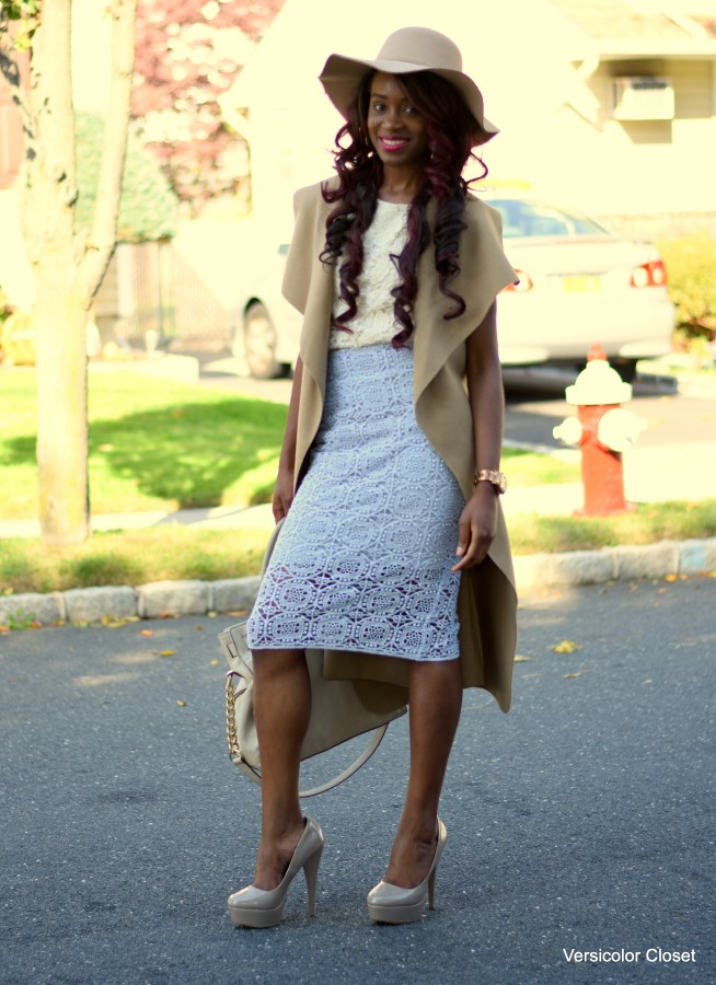 Lace skirt & lace top (4)