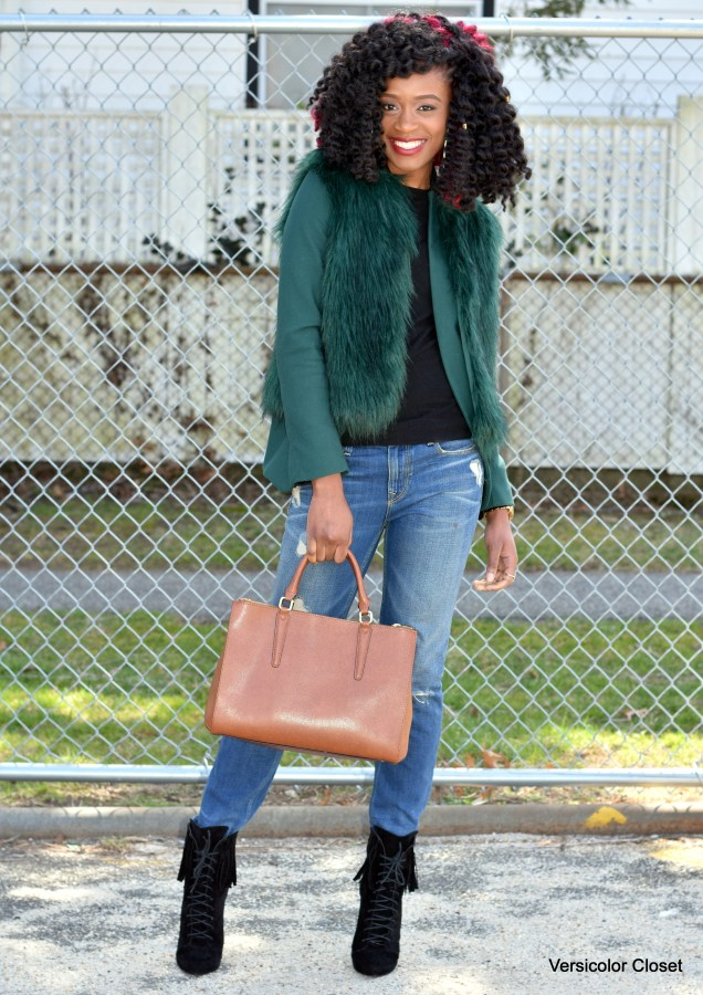 Jeans & faux fur jacket (5)