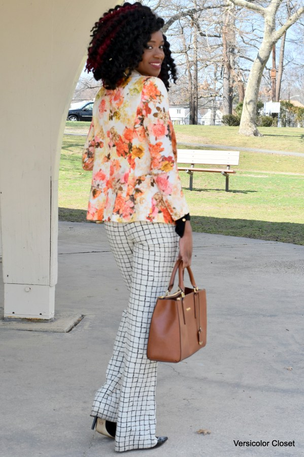 Floral blazer & Striped trousers (1)