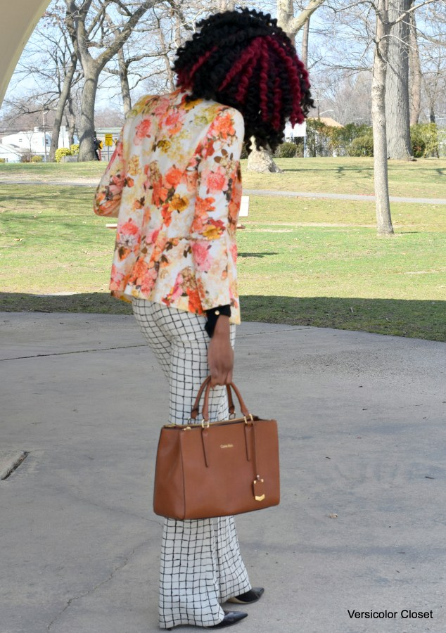 Floral blazer & Striped trousers (2)