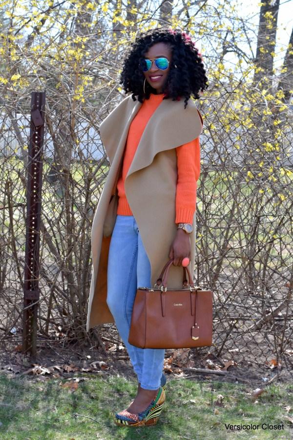 Orange jumper & waterfall coat (1)
