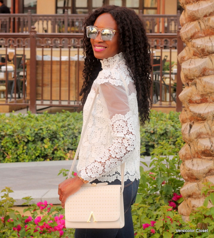Chicwish Lace top  + Target fringe sandals (1)