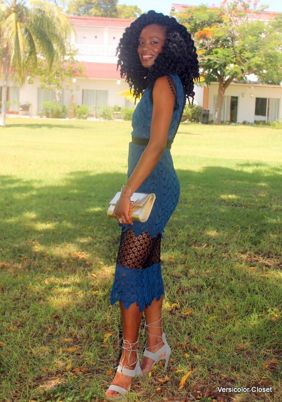Lace dress + lace up heels (6)