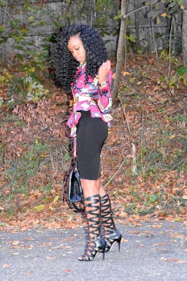 midi-skirt-ankara-jacket-gladiator-heels-9