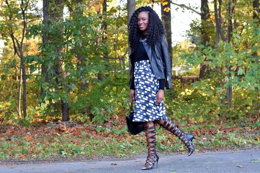 skater-skirt-faux-leather-jacket-gladiator-heels-4
