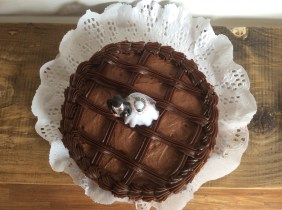 Torta di matrimonio al cioccolato. Sincera!