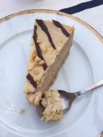 cheese cake beurre de cacahuete comptoir veggie 2