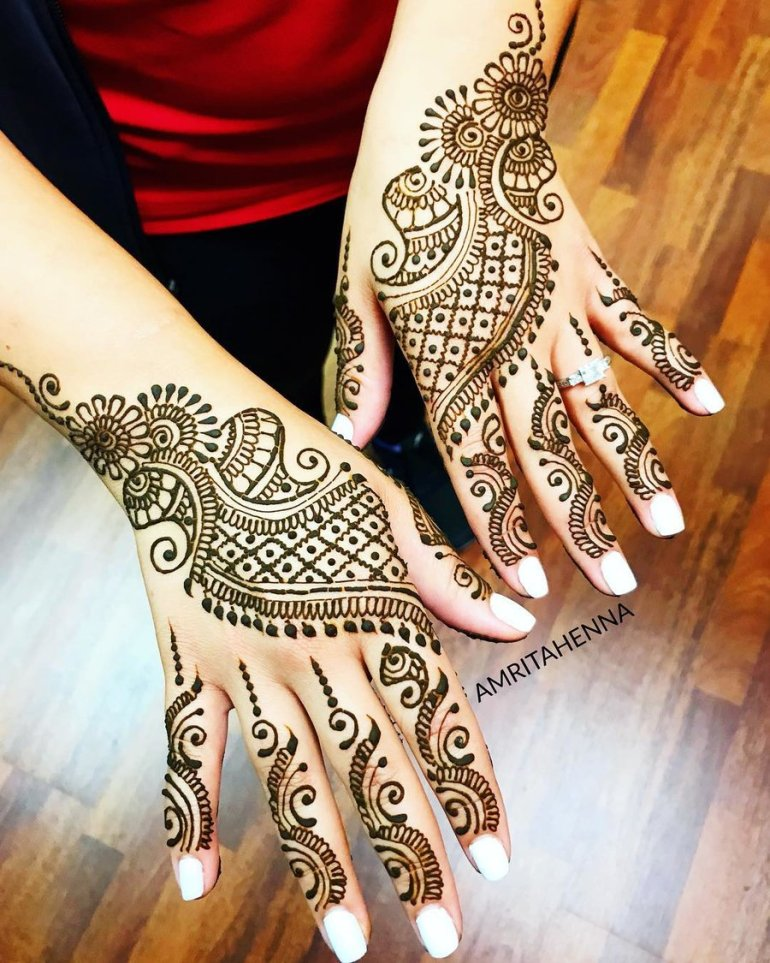 Paisleys Patterns Arabic Mehndi Design 1
