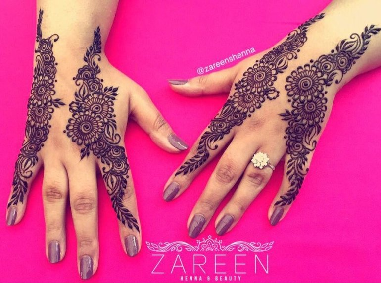 The dual magic Arabic Mehndi Design 4