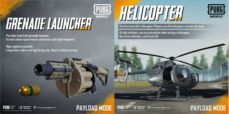 The highlight weapon and vehicle in Payload mode