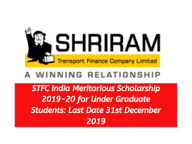 STFC India Meritorious Scholarship 2019-20 for Under Graduate Students