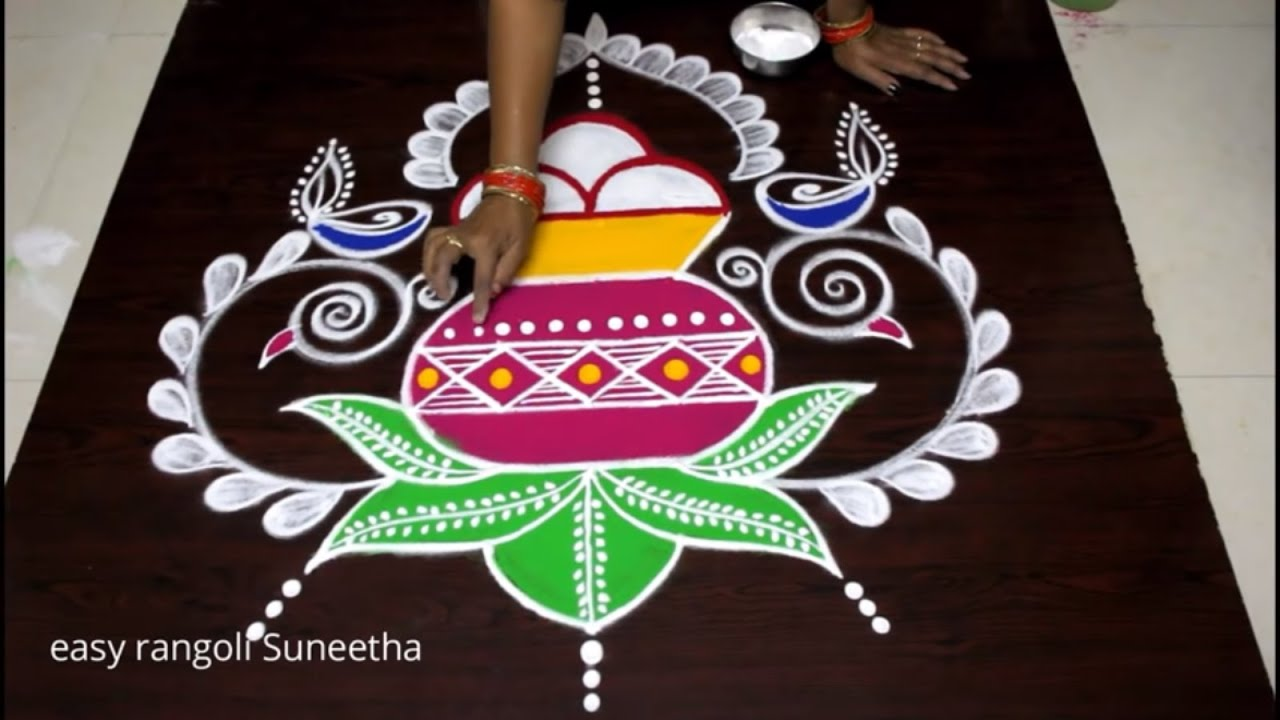 Best Rangoli Designs for Pongal Makar Sankranti