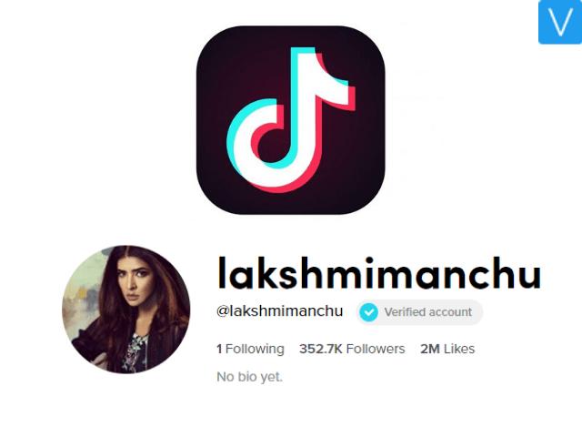 Manchu Lakshmi on TikTok acquired 4 million views in an hour