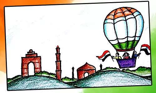 republic day drawing for kids