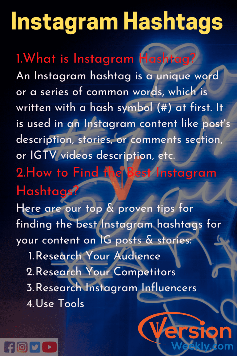 About Instagaram Hashtags to improve followers