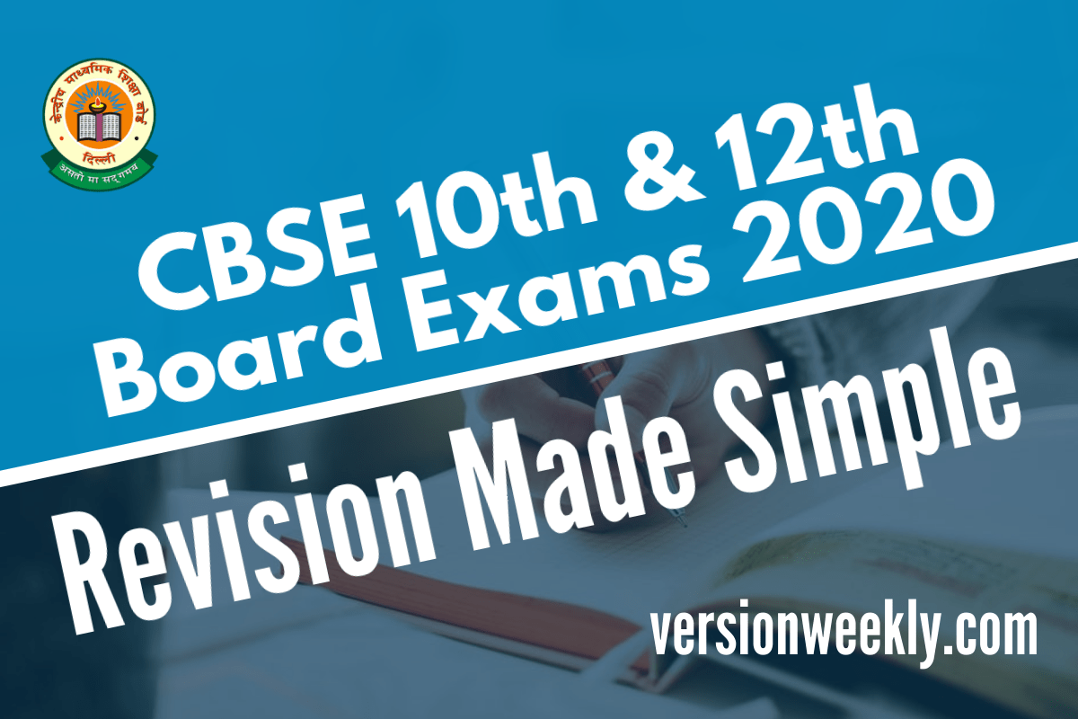 CBSE 10th & 12th Board Exams 2020