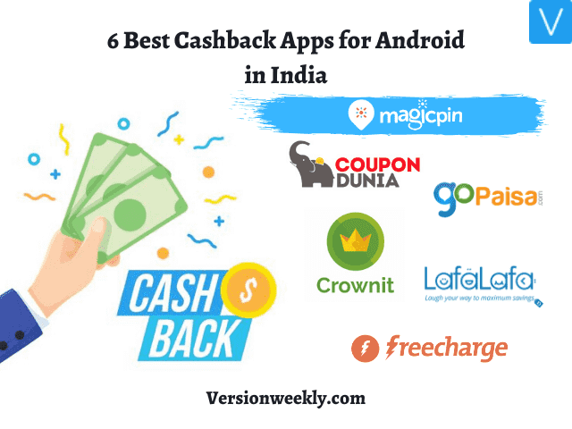 Best cashback apps for android in India