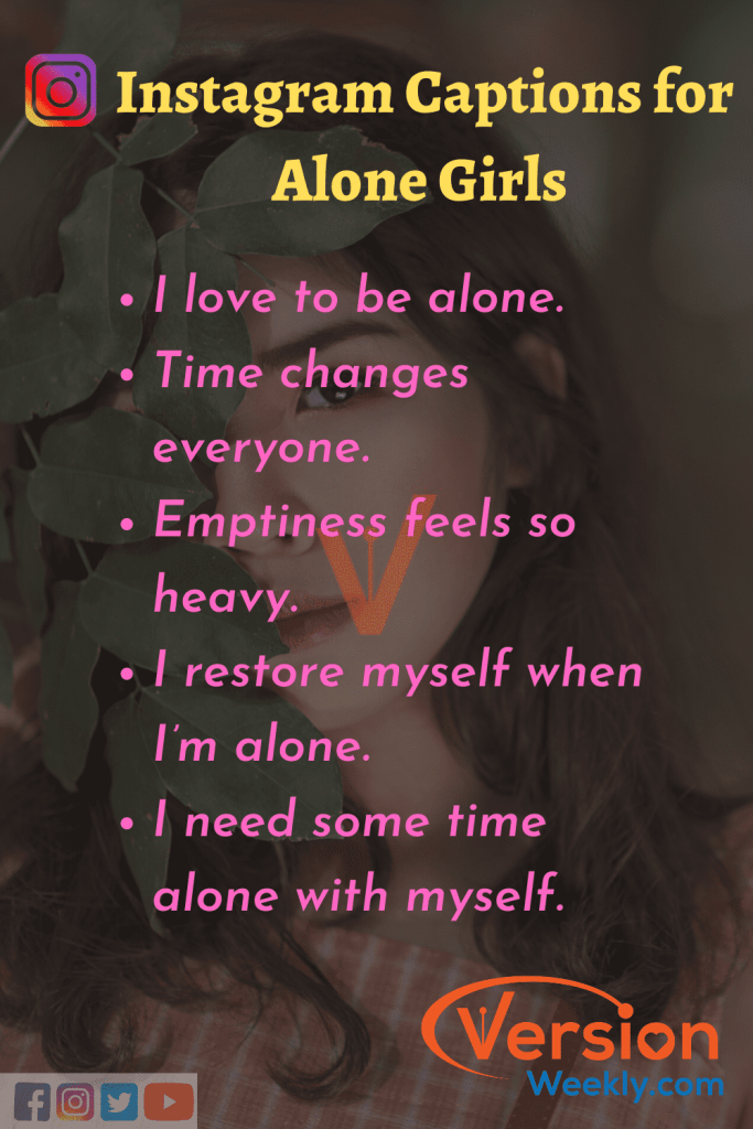 Alone Girls Quotes for Instagram Posts