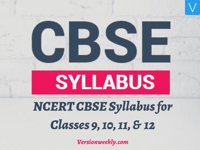 CBSE Syllabus 2020-2021