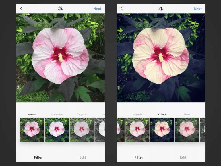 X-Pro II IG filters