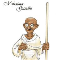 Mahatma Gandhi WhatsApp status image