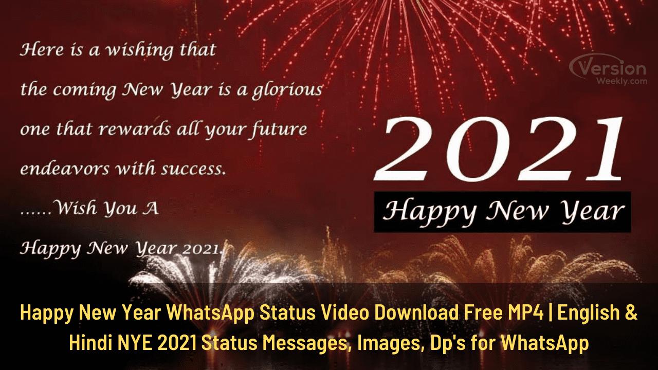 happy new year WhatsApp status video download free mp4
