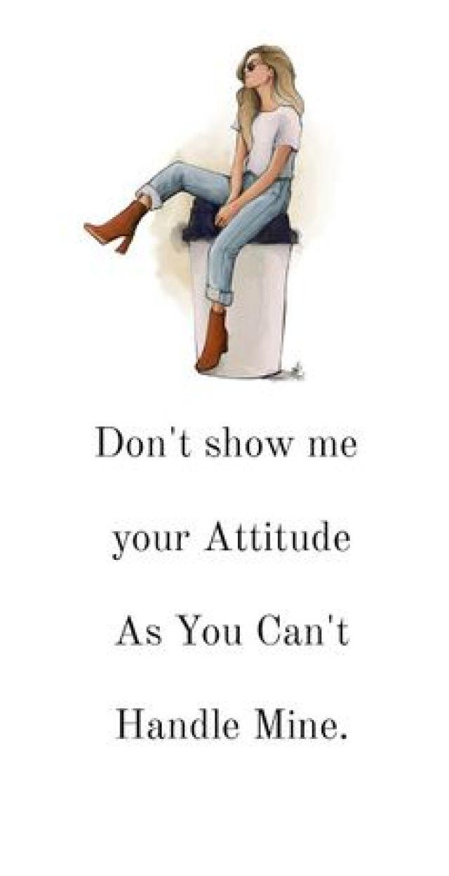 attitude captions for girls