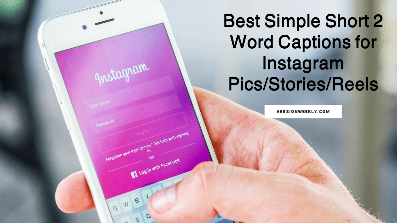 2 word captions for instagram