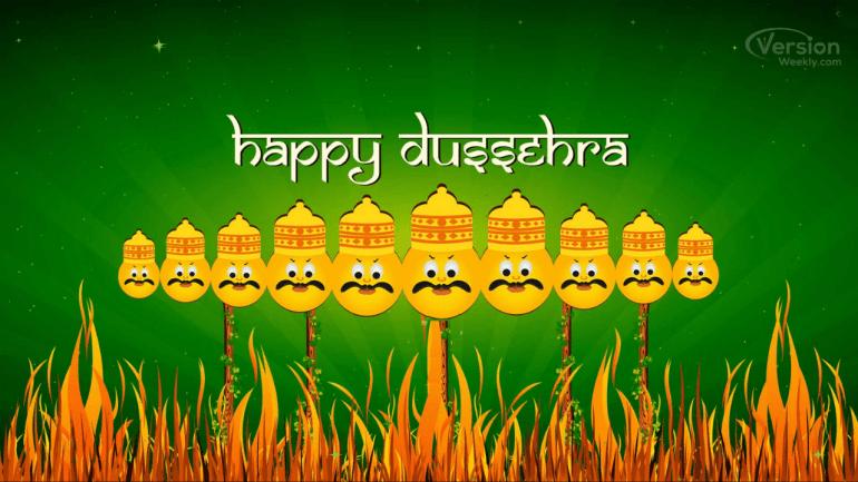 happy dussehra hd wallpaper