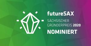 Icon zur Nominierung vom futureSAX Gründerpreis