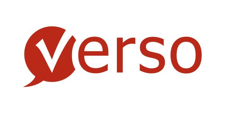 Verso Logo und Schriftzug