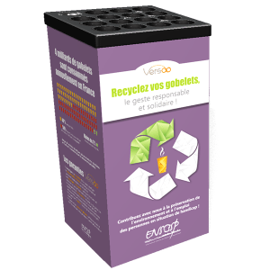recyclage-gobelets-plastiques-box-versoo-recyclage-gobelets-personnalisable