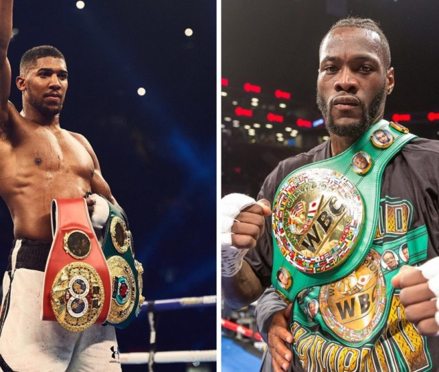 Images Via Instagram Anthony Joshua And Deontay Wilders