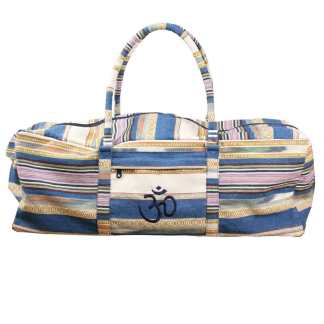 Sac Deluxe pour kit complet de yoga Yoga-Mad stripy blue