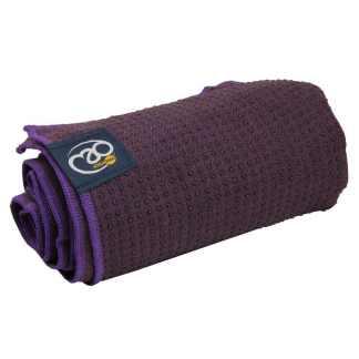 Serviette tapis de Yoga antidérapante Yoga-Mad aubergine