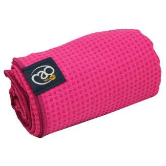 Serviette tapis de Yoga antidérapante Yoga-Mad bright pink