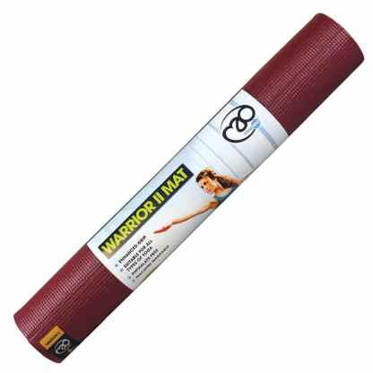 Tapis de Yoga Warrior II 4mm Yoga-Mad burgundy enroulé