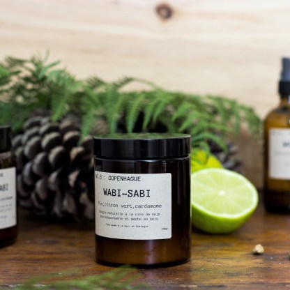 Bougie parfumée N°08 Copenhague 150g/40h Wabi-Sabi