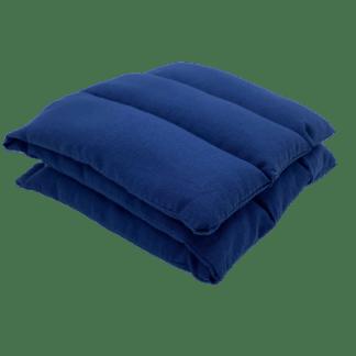 Bouillotte à graines de lin unie Bleu marine