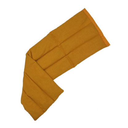 Bouillotte à graines de lin unie Orange dépliée