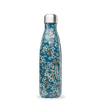 Bouteille Flowers Bleu Qwetch 500ml