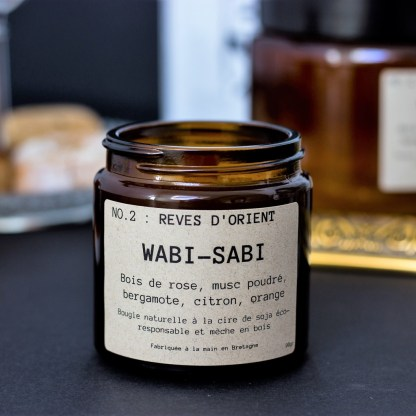 Bougie parfumée N°02 Rêves d'Orient 90g