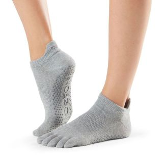 Chaussettes antidérapantes Lowrise Full Toe heather grey Toesox