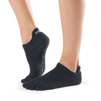 Chaussettes antidérapantes Lowrise Full Toe noir Toesox