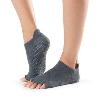 Chaussettes antidérapantes Lowrise Half Toe charcoal grey Toesox