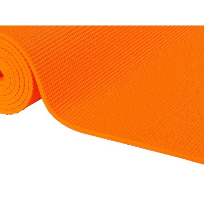 Tapis de yoga Non-Toxique orange safran détail