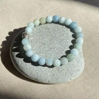 Bracelet en amazonite et argenté